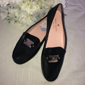 NEW KATE SPADE Loafers Sz 8.5 Black